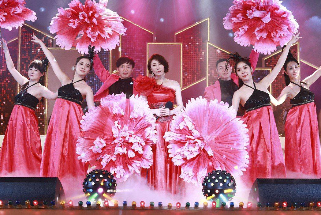 李翊君客串「黃金歲月」演出大牌秀。圖/民視提供