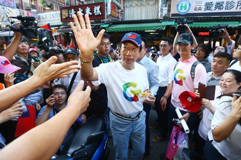 近來有報導指出,鴻海創辦人郭台銘曾寫信給蔡總統,說自己「無意2024總統大選」。圖/聯合報系資料照片