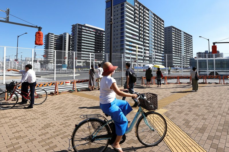 這次人口普查,東京增加55萬人,也增加52萬戶。圖為賽後將做為民間大型社區的東奧選手村。路透