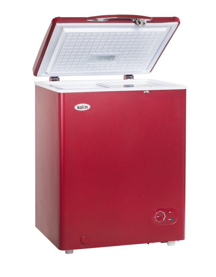 歌林上掀門蓋式冷凍櫃儲存空間超大,內附活動式置物架,還搭配左右雙開透明防漏玻璃門...