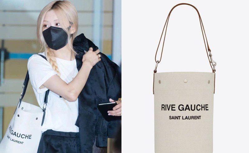 Saint Laurent今年再度為Rive Gauche系列打造一款帆布新品,以水桶包外型呈現休閒自在的時尚感。圖/Saint Laurent提供