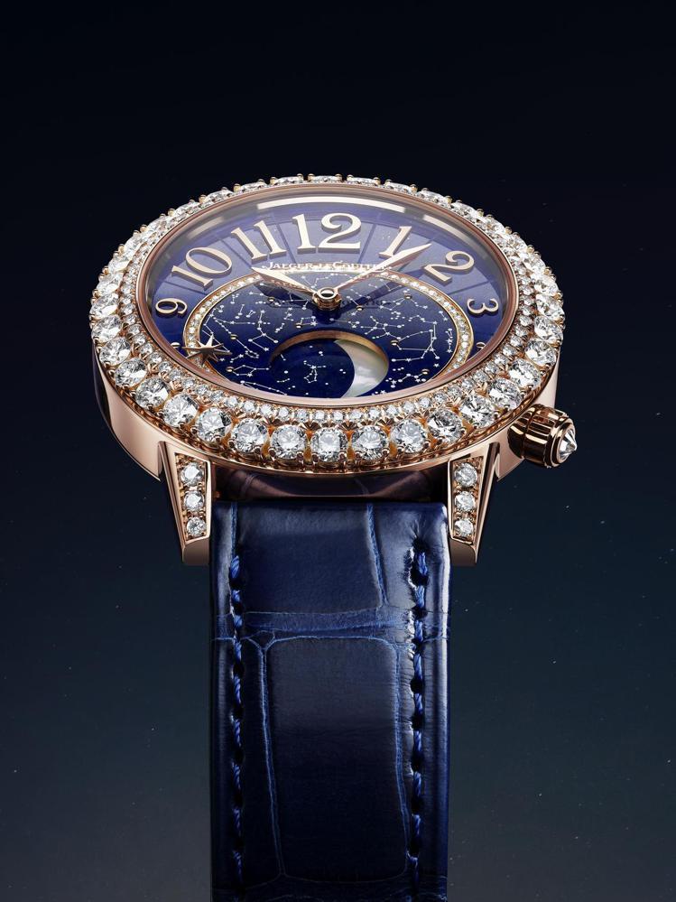 積家的Rendez-Vous Dazzling Moon Lazura月相珠寶腕...