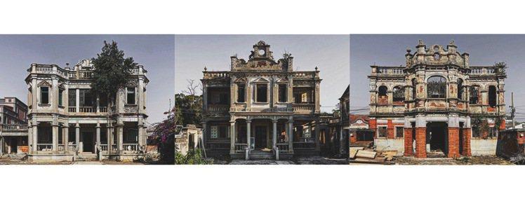 趙培均這一組系列作品是在2020年走訪金門時,以相同的構圖形式來紀錄3座已遭棄置...