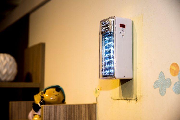 停電時的安全照明很重要。圖/特力屋提供