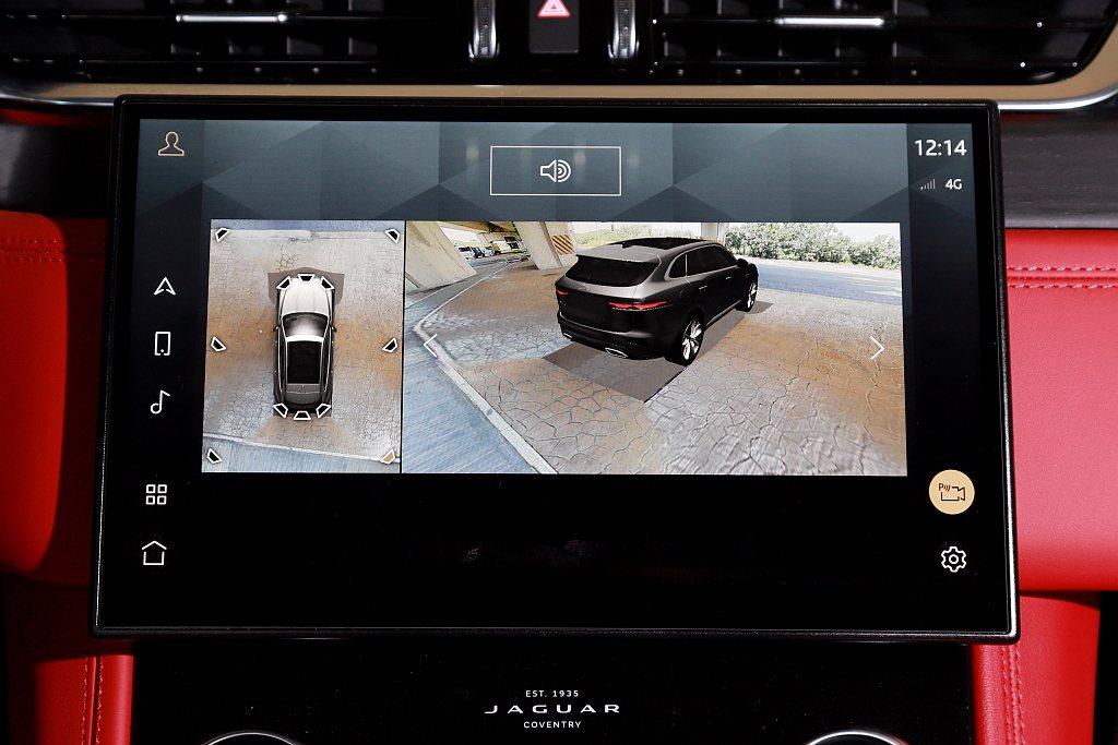 高解析度11.4吋Pivi Pro多媒體觸控式顯示螢幕呈現的360度3D環景攝影...