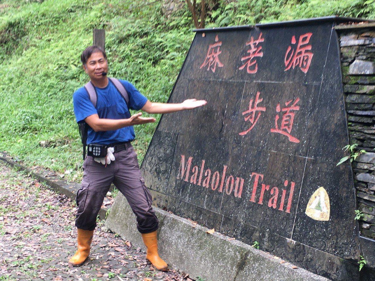 台東生態導覽員韋立琦非常活潑,很能帶動氣氛。 圖/韋立琦提供