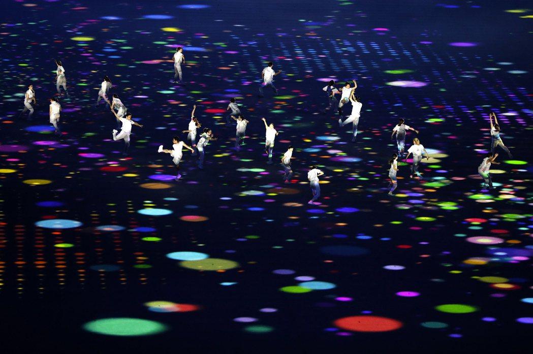 東京奧運開幕式。 歐新社