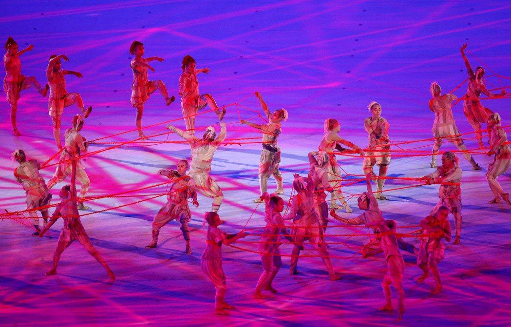 東京奧運開幕式。 路透