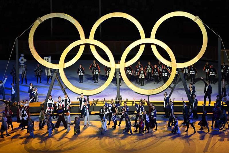 圖為東京奧運開幕式。 法新社