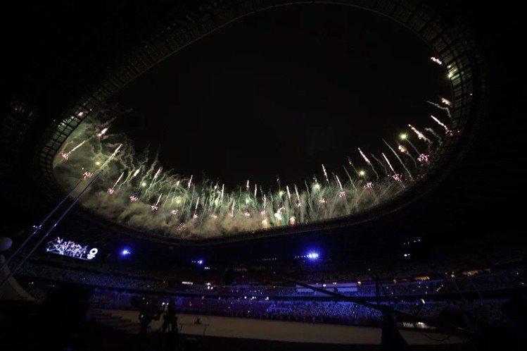 東京奧運於7月23日晚間於東京國立競技場舉辦開幕式。(路透)