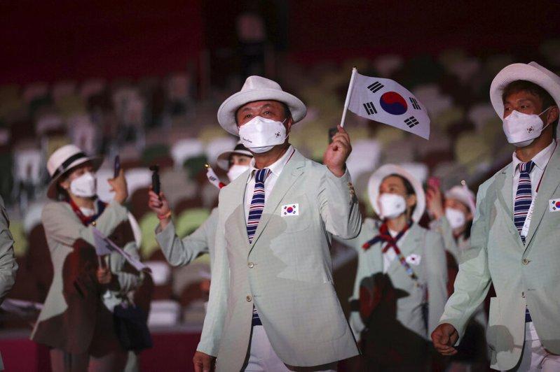 韓國代表團在本屆東京奧運拿下20面獎牌,為1984年洛杉磯奧運以來最差成績。 美聯社