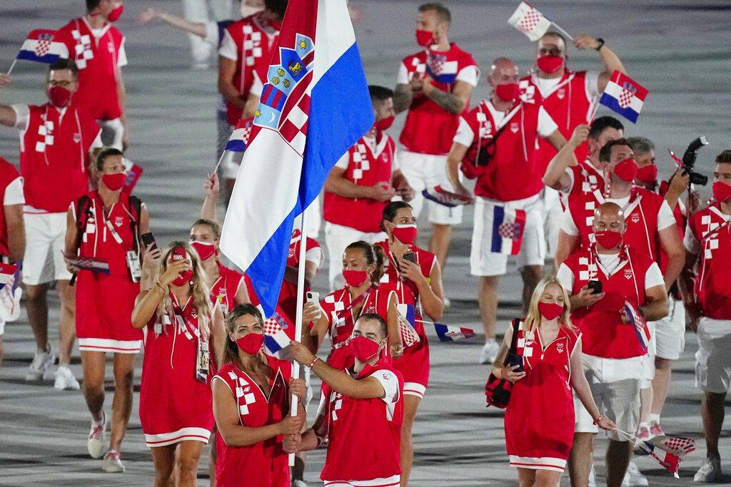 克羅埃西亞代表團。 美聯社