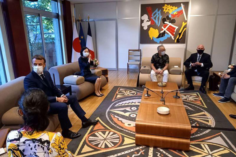 日皇德仁會見來訪各國元首。 法新社