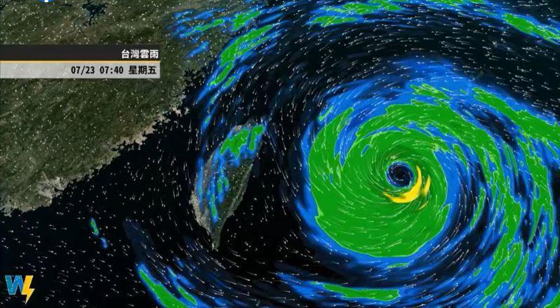 烟花颱風的動態分析。圖/取自「氣象達人彭啟明」臉書粉專
