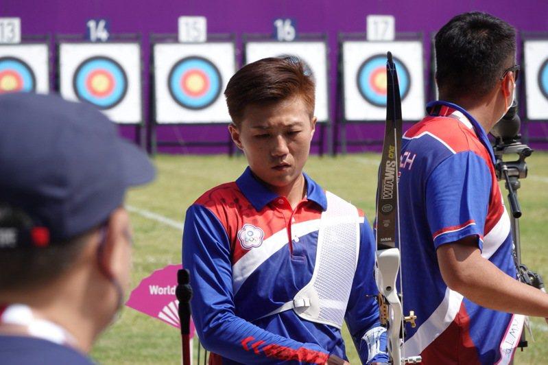 中華女子射箭隊今天上午出賽排名戰,選手雷千瑩。特派記者蘇志畬/東京攝影