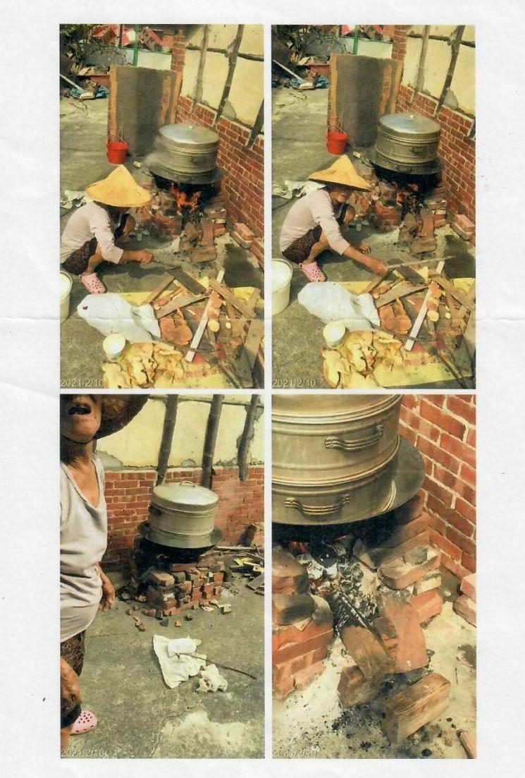 台南陳姓阿嬤在住處炊粿,遭開單告發。圖/陳秋宏堤供