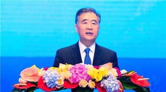 大陸全國政協主席汪洋。中國台灣網