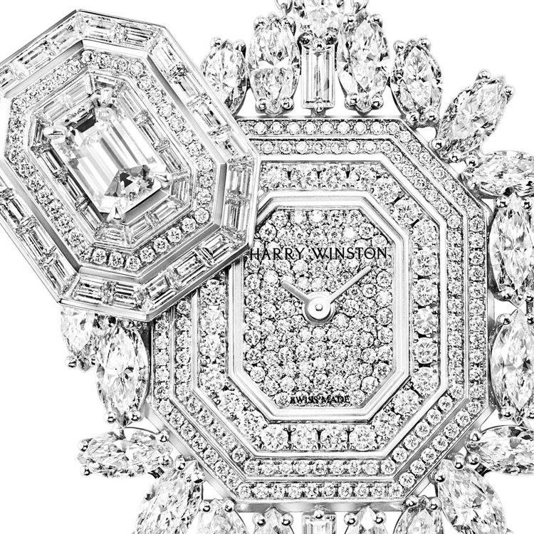 Ultimate Emerald Signature頂級珠寶時計可滑開的上蓋,面...