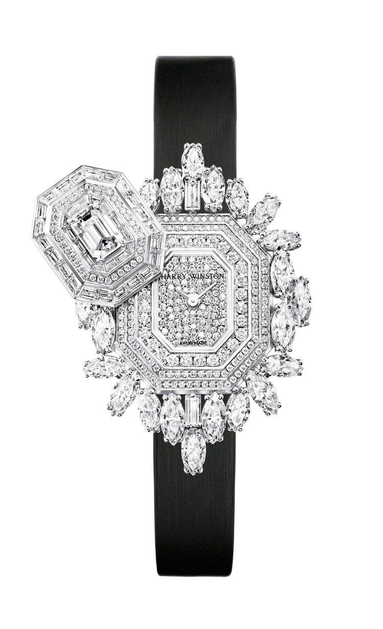 海瑞溫斯頓Ultimate Emerald Signature頂級珠寶時計,42...