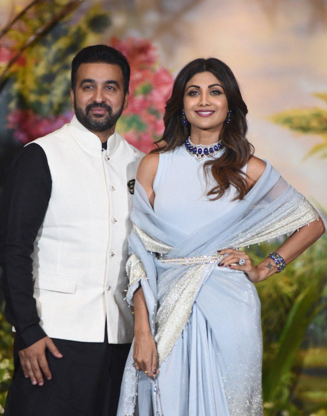 寶萊塢女星謝蒂的丈夫昆卓拉,涉嫌經營色情片拍攝公司而被捕。(法新社)