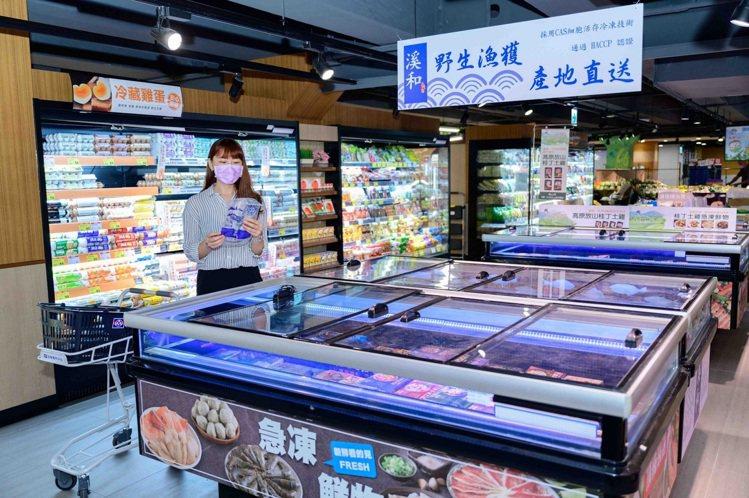 全聯南港旗艦店首次推出漁港直送鮮魚專區。圖/全聯福利中心提供