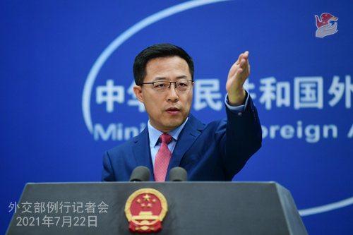大陸外交部發言人趙立堅嗆美,「我們在安克拉治不吃這一套,在天津更不會吃這一套」。圖/取自陸外交部網站
