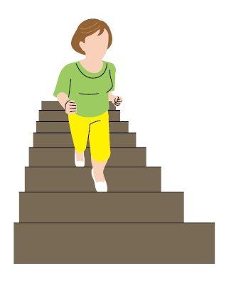 每天爬一段樓梯 圖/123RF