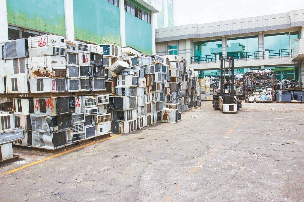廢棄家電及資訊,宏青企業將可利用資源再利用。三珈企業/提供。