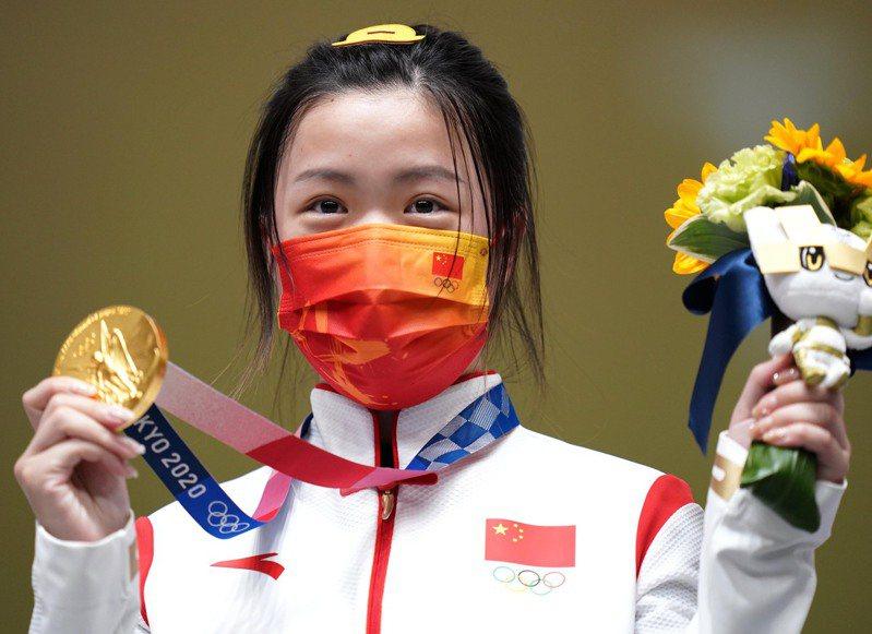 楊蒨為中國隊搶下首金。 新華社