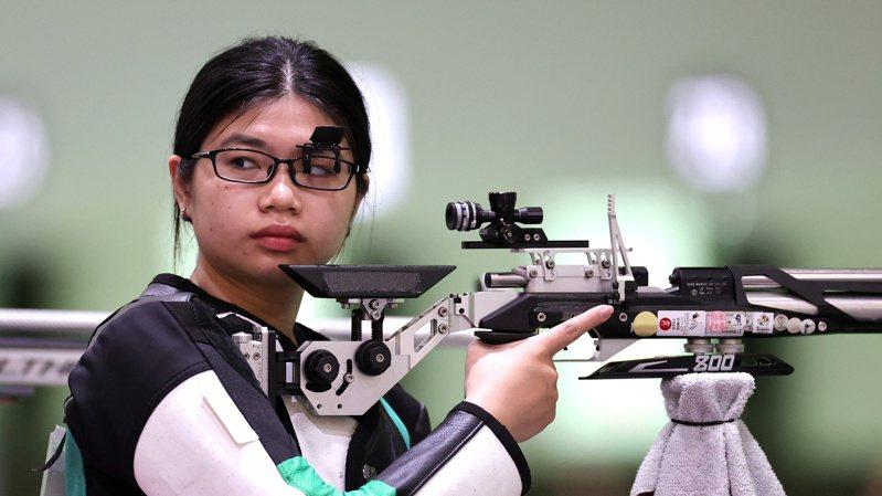 22歲台灣射擊女將林穎欣的奧運初體驗,今天上午在女子10公尺空氣步槍資格賽止步。 路透社