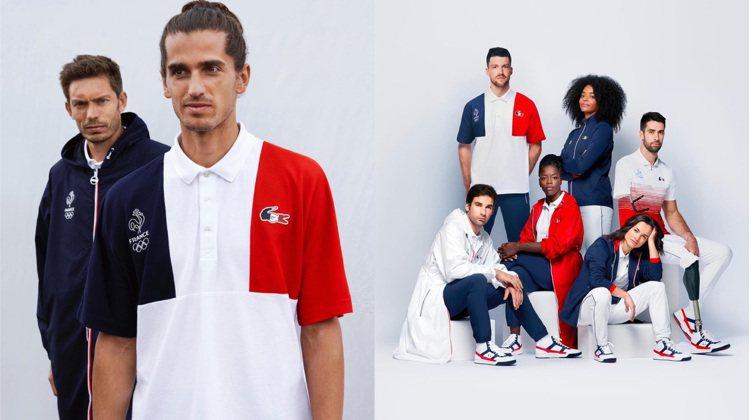 法國隊進場服的「雞鱷」Logo並存來自Le Coq Sportif與LACOST...