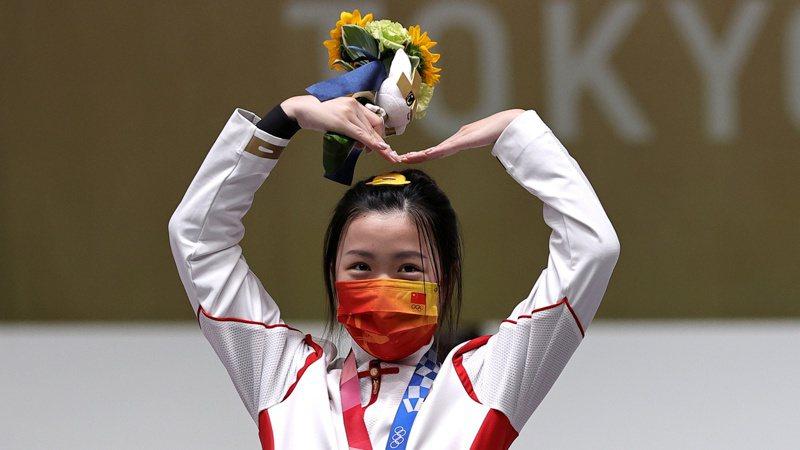 奧運首金得主楊倩。 路透
