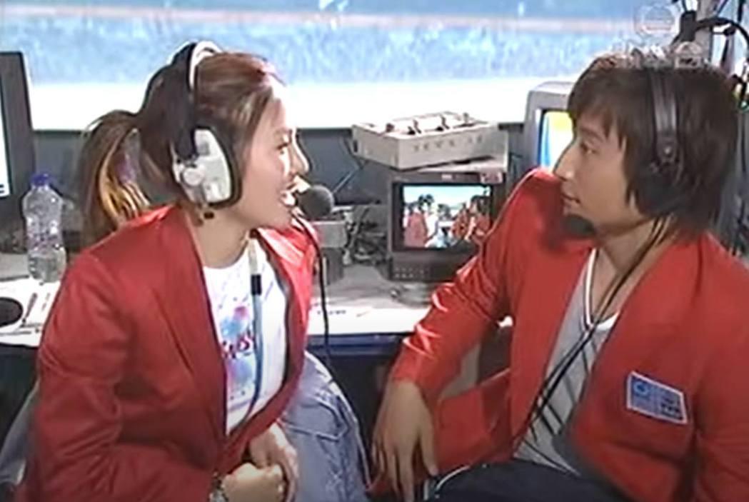 2004年奧運期間,香港電視台的主持人在直播室發生爭執。圖/香港無綫電視截圖