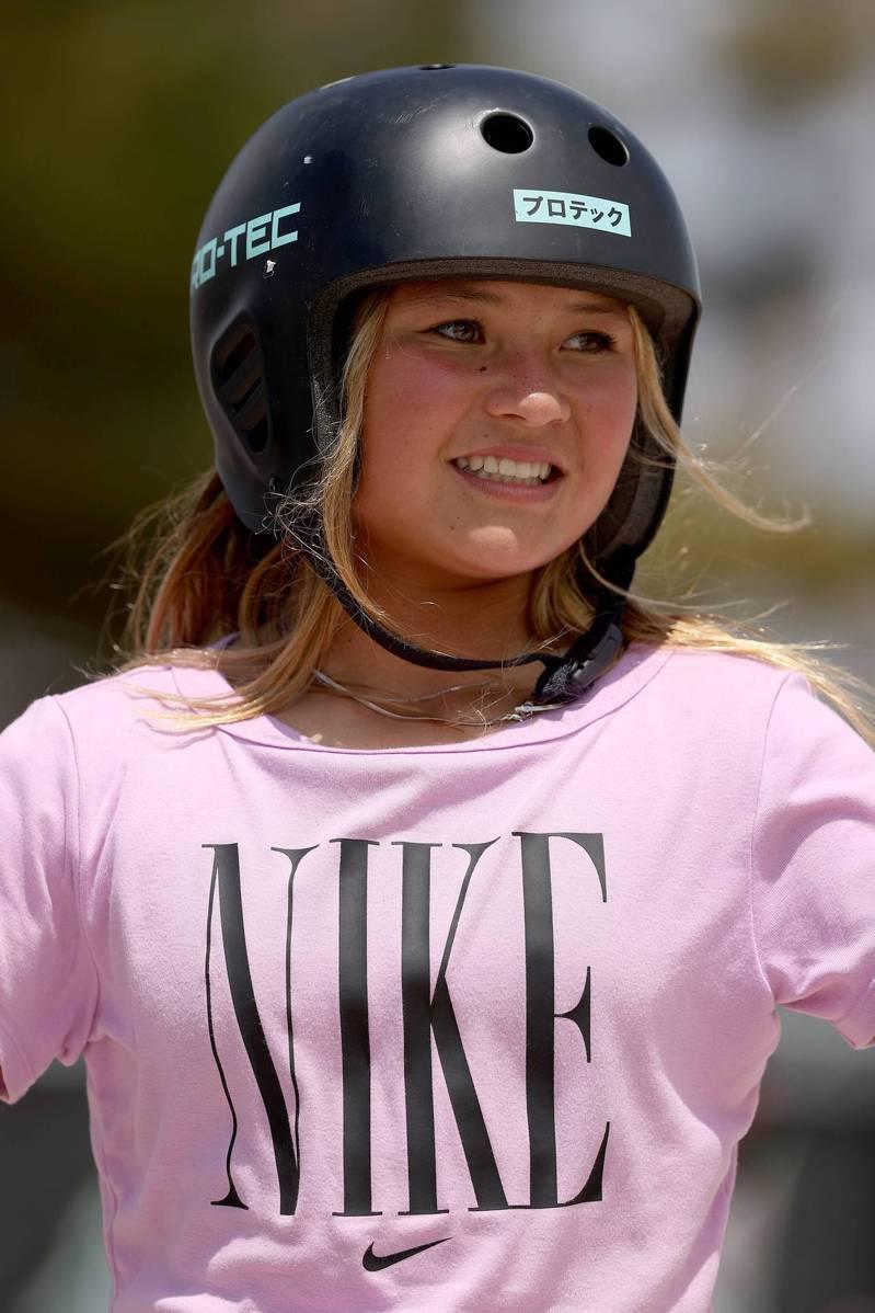 年僅13歲的英日混血女孩布朗是英國史上最年輕的夏季奧運選手。 法新社