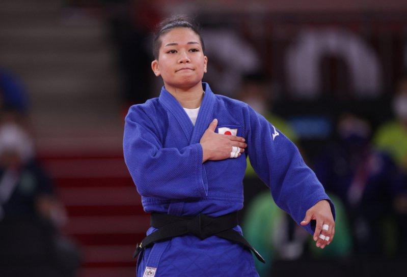 日本女子柔道選手渡名喜風南。 路透