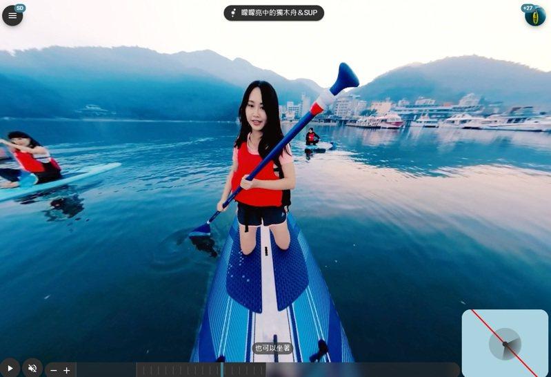 由「PTT大神」杜奕瑾團隊為交通部製作的360度智慧觀光網站「海陸漫行」,計畫耗資9000萬元,立委高虹安實際試用,認為沉浸式體驗有待加強。圖/翻攝字海陸慢行網站