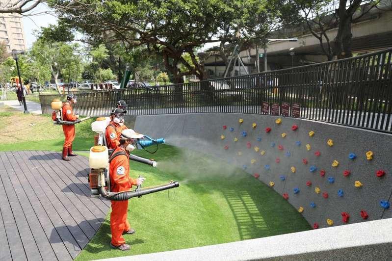 新竹市政府明、後天將啟動全市125座公園、26處綠地消毒計畫,讓民眾安心使用。圖/新竹市政府提供