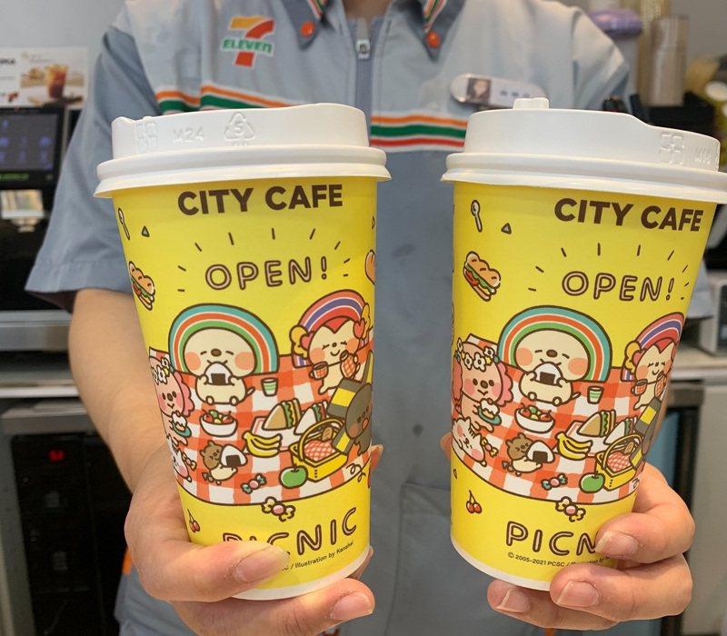 「OPEN POINT行動隨時取」7月28日至8月1日限時5天推出「CITY CAFE大杯美式咖啡買1送1」活動,每日限量1萬組。圖/7-ELEVEN提供