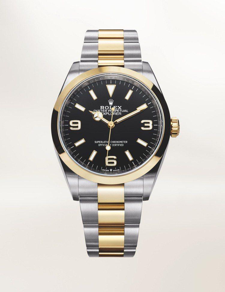 勞力士Oyster Perpetual Explorer探險家一號腕表,黃金與蠔...