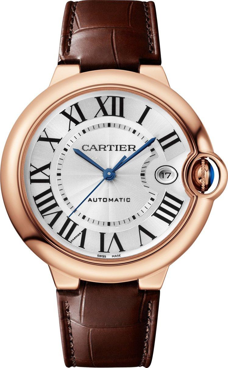 卡地亞Ballon Bleu de Cartier 40毫米玫瑰金自動腕表,附可...