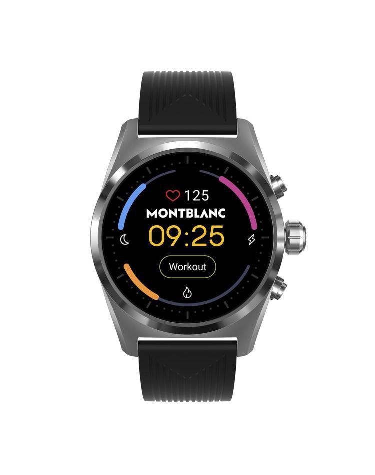 萬寶龍Summit Lite智慧腕表,銀灰色鋁表殼搭配黑色橡膠表帶,27,300...