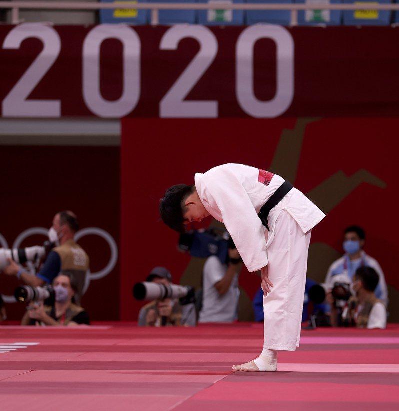 台灣柔道女將林真豪在東京奧運女子48公斤級,不敵以色列選手瑞尚尼,並列第七名作收。特派記者余承翰/攝影