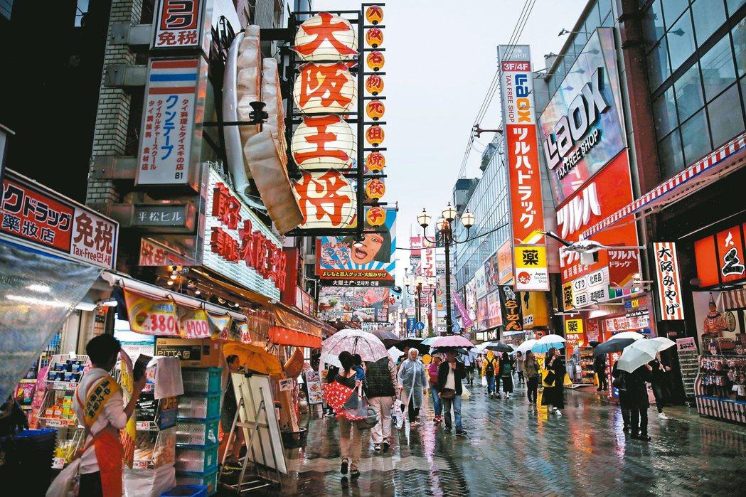 大阪市是日本最重要的產業都市,是西日本的最大都市和經濟中心。(路透)