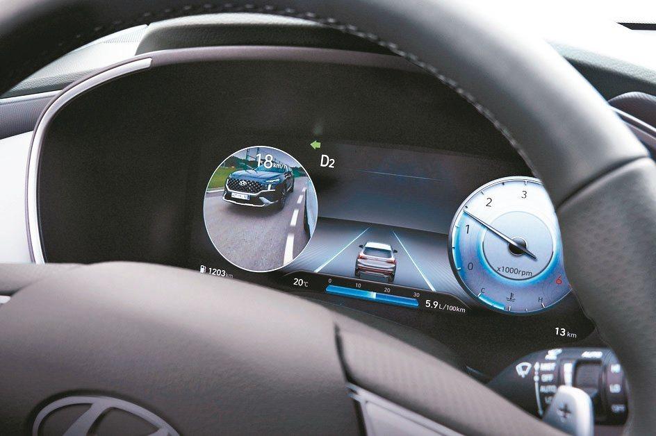 12.3吋全尺寸高解析度數位儀表可顯示BVM盲區影像輔助系統資訊,提升駕駛安全性...