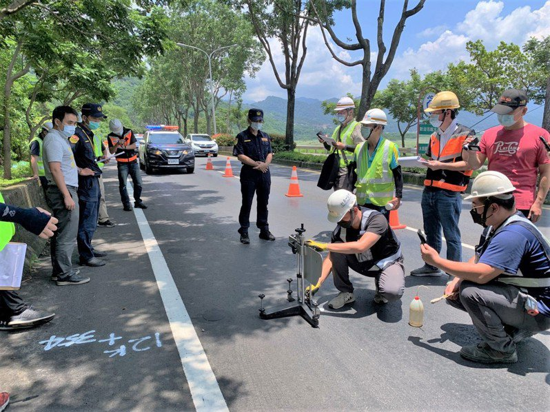 台16線事故路段最近檢警完成調查,工務段將刨除重鋪路面,讓用路人安心。圖/集集鎮公所提供