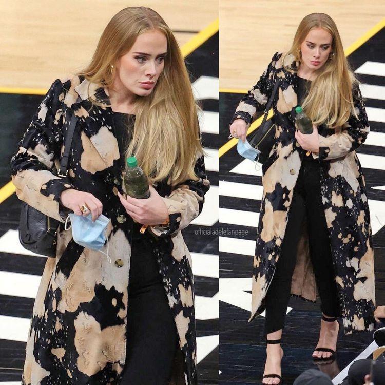 近日愛黛兒被拍到和NBA經紀人李奇保羅去看球賽的照片,容光煥發。圖/取自IG
