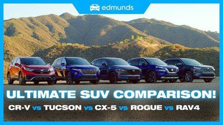 影/美汽車網站實測Tucson、CR-V、RAV4、CX-5及Rogue 誰是最佳休旅?
