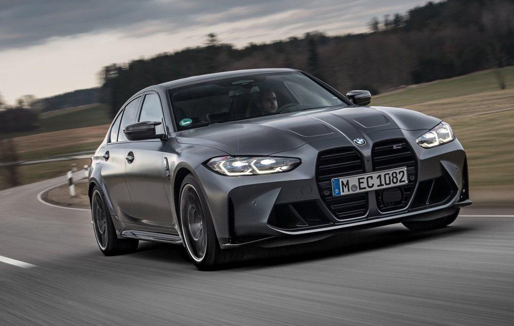 BMW M3 Competition xDrive。 摘自BMW