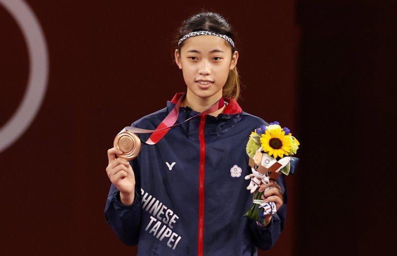 羅嘉翎為台灣沃得一銅。 歐新社