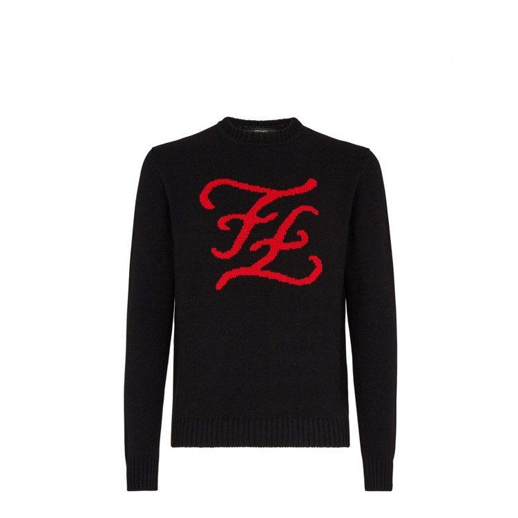七夕限定系列Karligraphy字樣針織衫,51,000元。圖/FENDI提供
